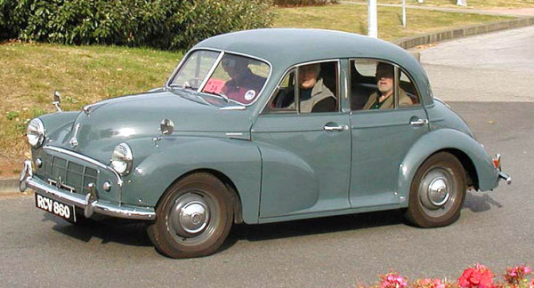 The Morris Minor, the best car for 7b9 chords enthusiasts